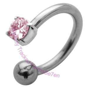 Jewel Charm - Pink - Belly Ring